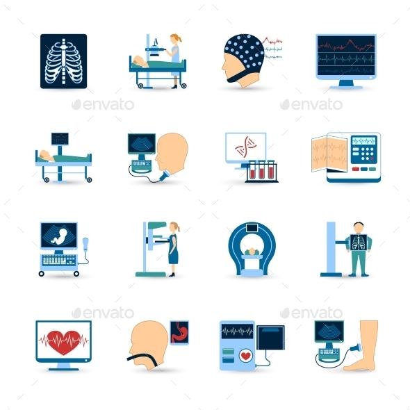 Medical Examination Icons Set  - Technology Icons