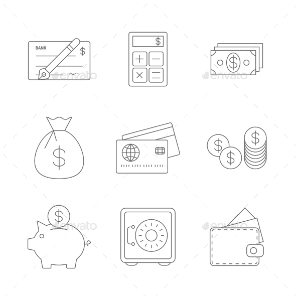 Finance Icons Line - Business Icons