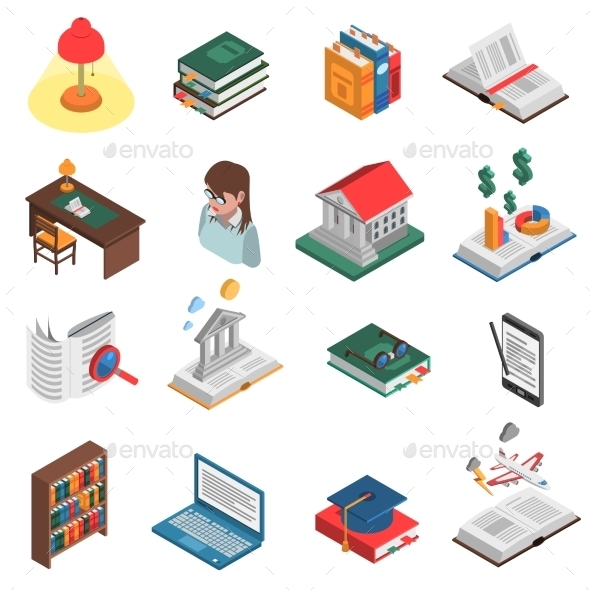 Books Icons Set  - Man-made Objects Objects