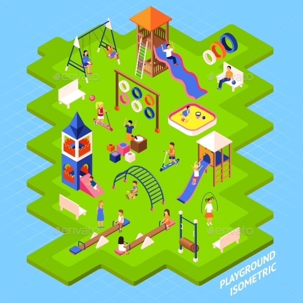 Playground Park Poster - Backgrounds Decorative