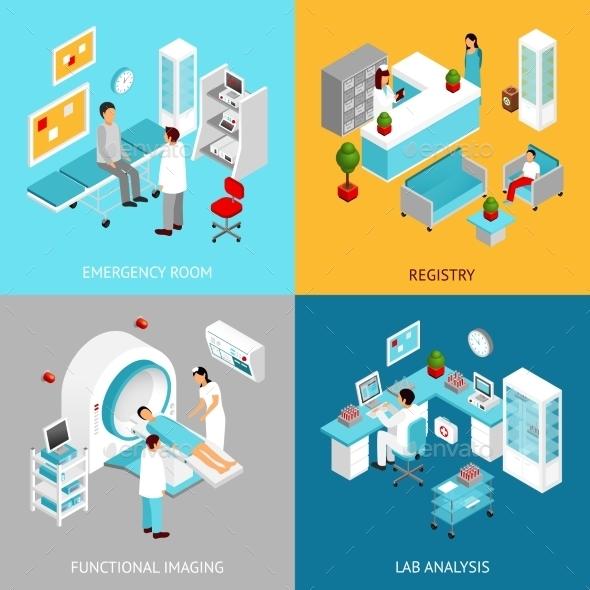 Hospital Departmens Set - Health/Medicine Conceptual