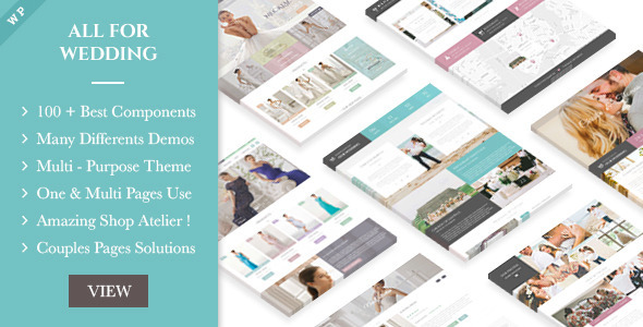 Wedding Industry – Multipurpose For Wedding & Couple Site WP