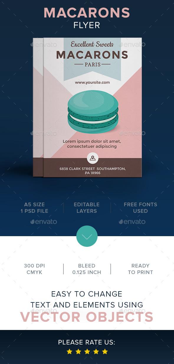 Macarons Flyer Template - Flyers Print Templates