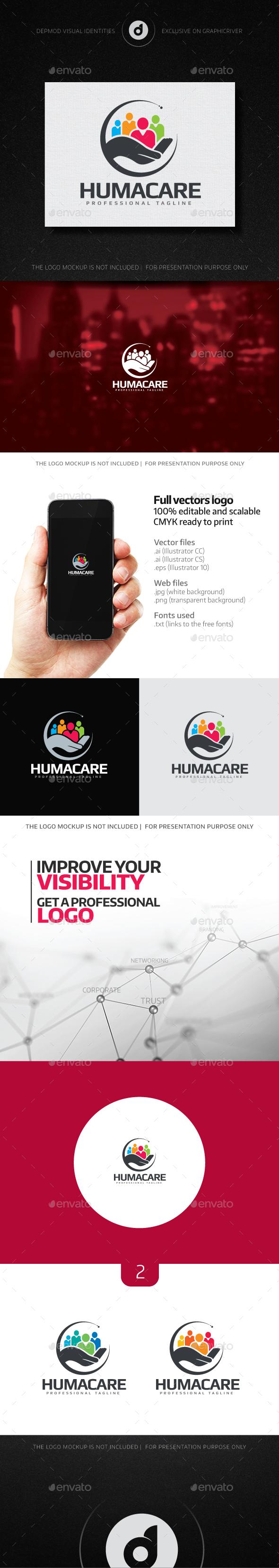 HumaCare Logo - Humans Logo Templates