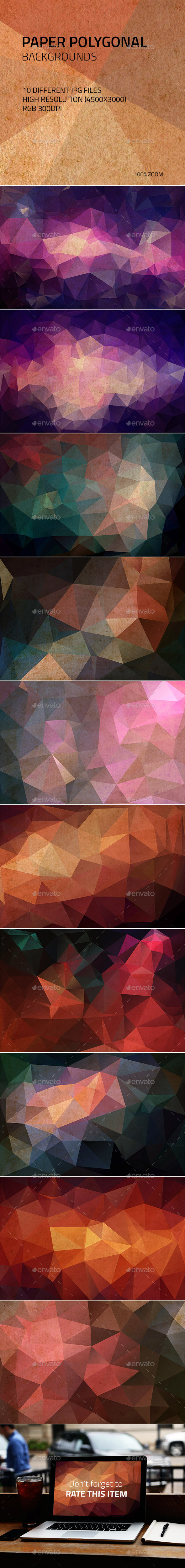 Paper Polygonal Backgrounds - Abstract Backgrounds