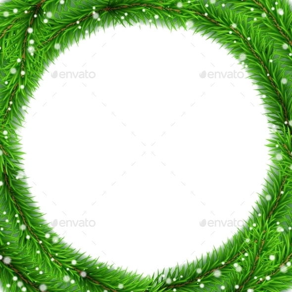 Christmas Tree Frame - Christmas Seasons/Holidays