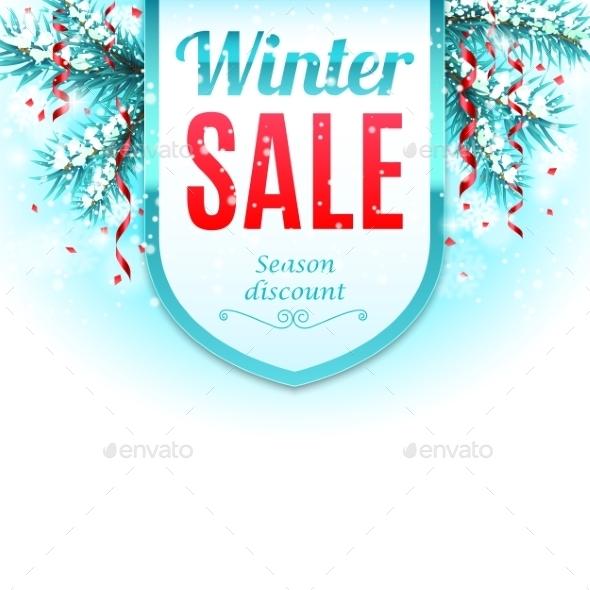Winter Sale Banner - Christmas Seasons/Holidays