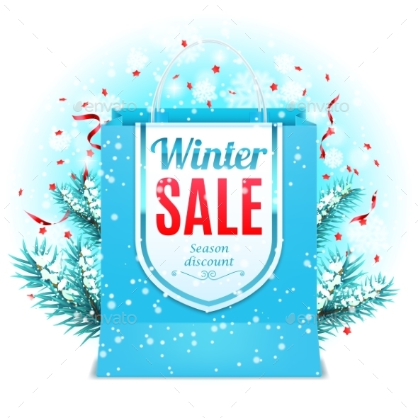 Winter Sale Shopping Bag - Retail Commercial / Shopping