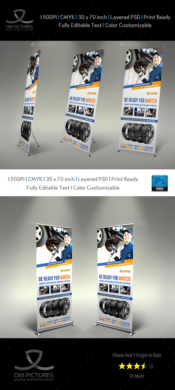 Tire Services Signage Template - Signage Print Templates