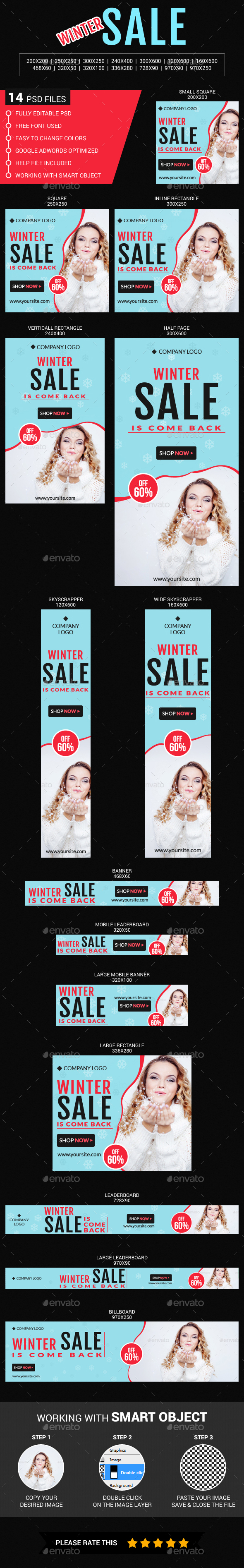 Winter Sale - Banners & Ads Web Elements