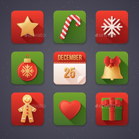 9 Christmas Icons - Christmas Seasons/Holidays