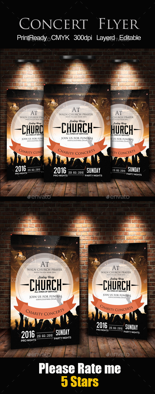 Charity Concert Flyer Template - Church Flyers