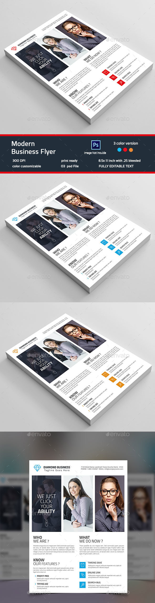 Modern  Business Flyer Template - Corporate Flyers
