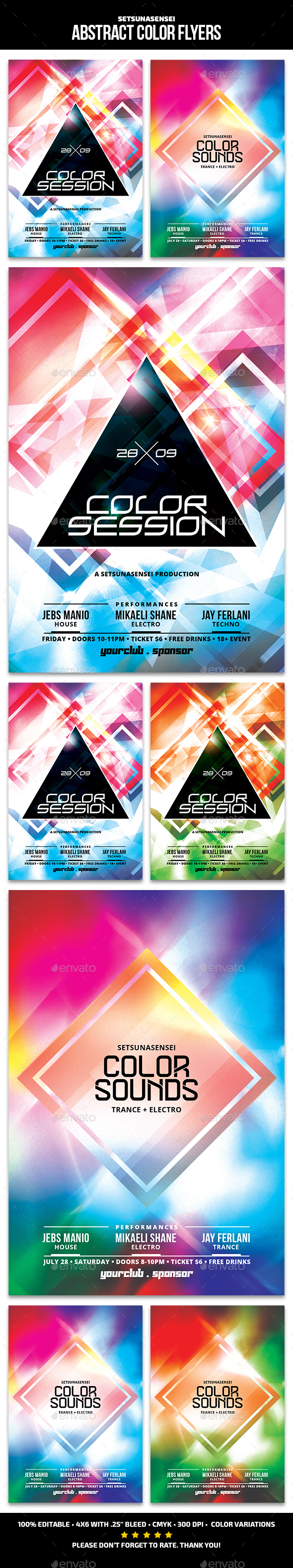 Abstract Color Flyers - Clubs & Parties Events