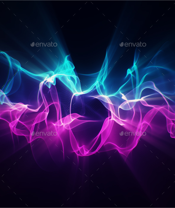 Particle Wave - Abstract Backgrounds