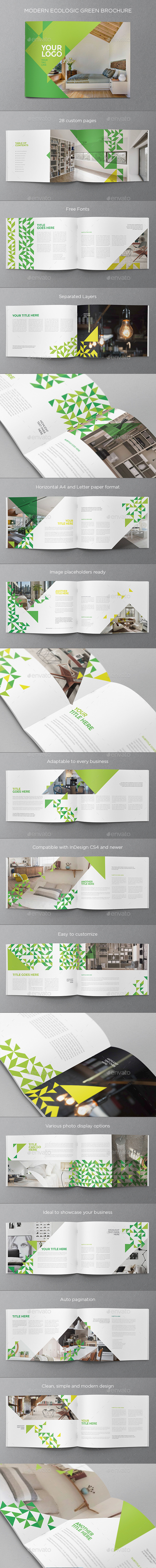 Modern Ecologic Green Brochure - Brochures Print Templates