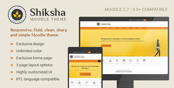 Shiksha – Responsive Moodle Theme