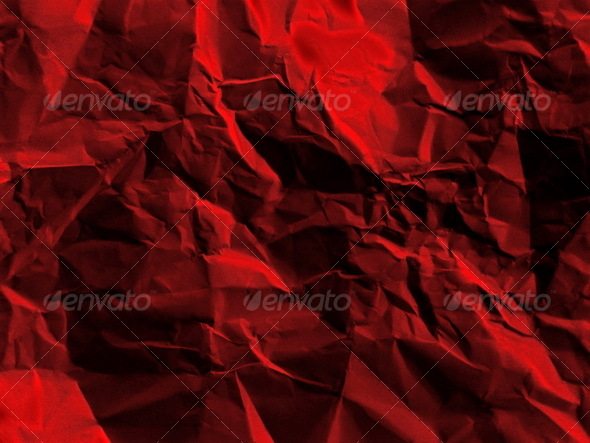 Red rumpled paper - Paper Textures
