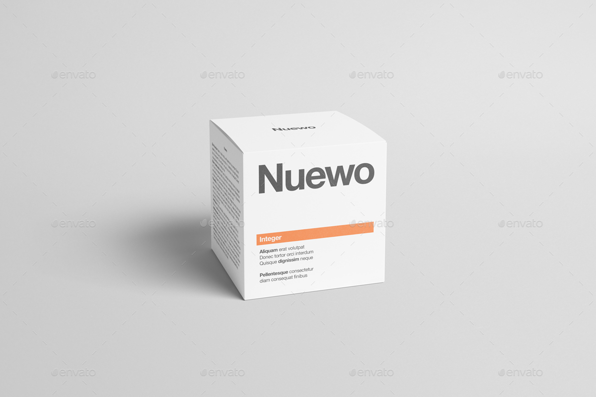 Box / Packaging Mock-Up - Square by Zeisla   GraphicRiver