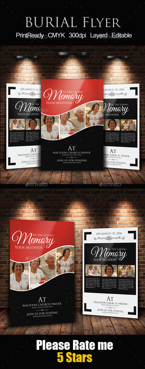 Memory Funeral Program Template - Church Flyers
