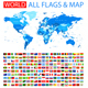 All Flags and World Map - GraphicRiver Item for Sale