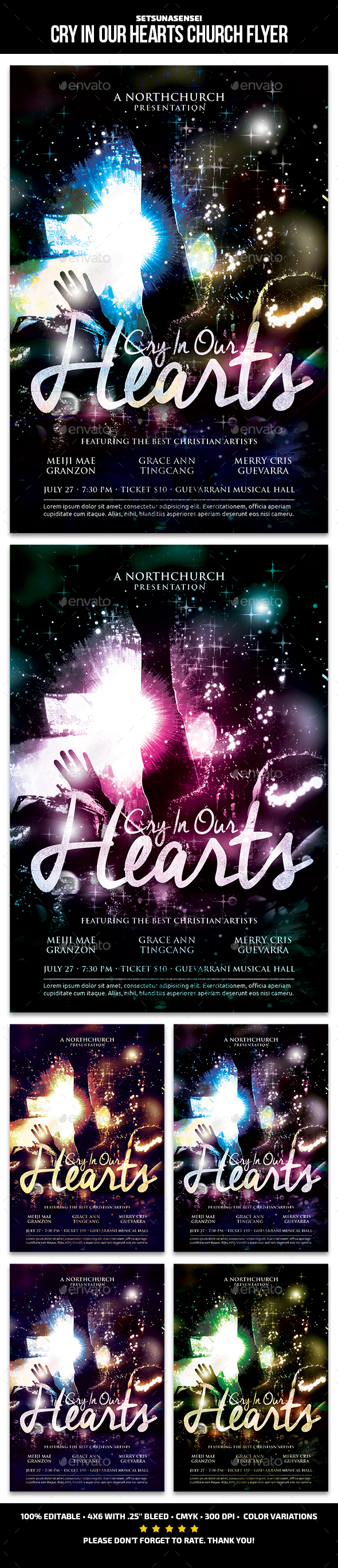 Cry In Our Hearts Church Flyer - Church Flyers