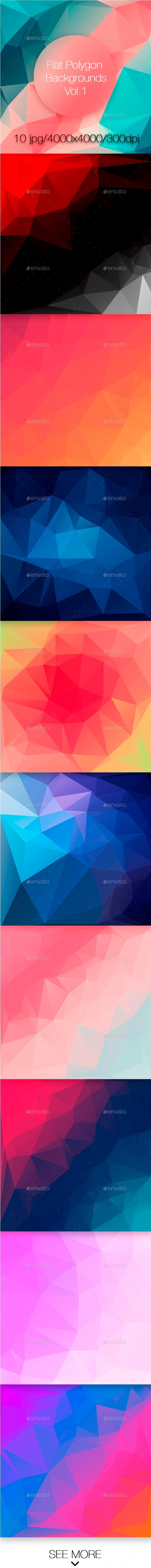 Flat Polygon Backgrounds Vol.1 - Abstract Backgrounds