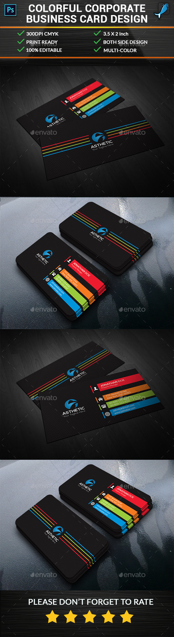 Colorful Corporate Business Card - Corporate Business Cards