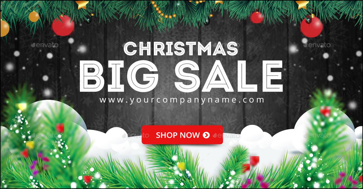 christmas sale banners bundle - 4 sets