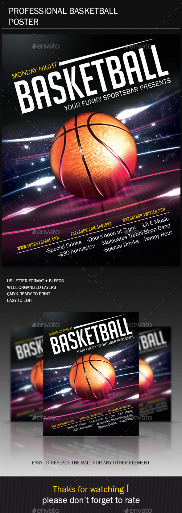 Basketball Poster - Sports Events