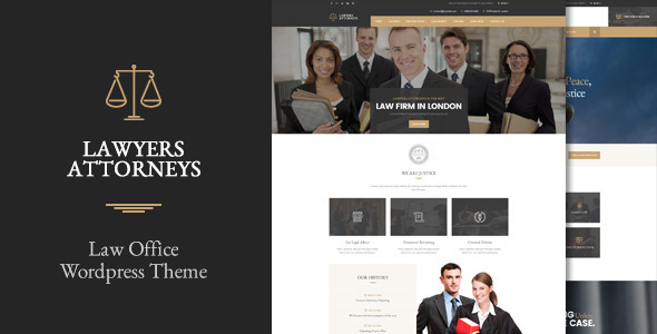 Lawyer Attorneys – A Law Office WordPress Theme