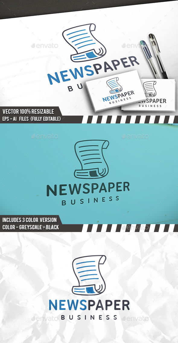 Newspaper Logo - Objects Logo Templates