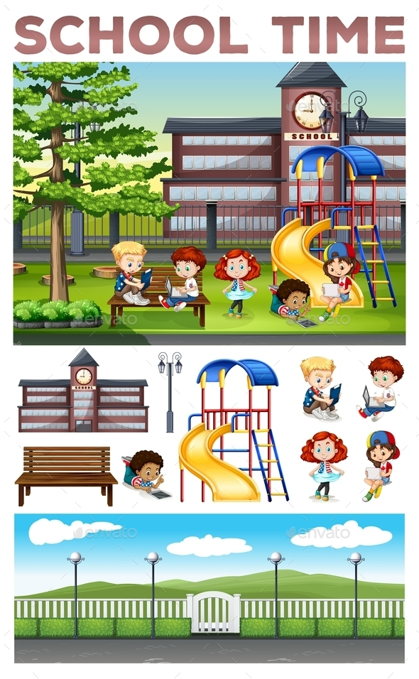 Children Doing Activities at School - Miscellaneous Conceptual
