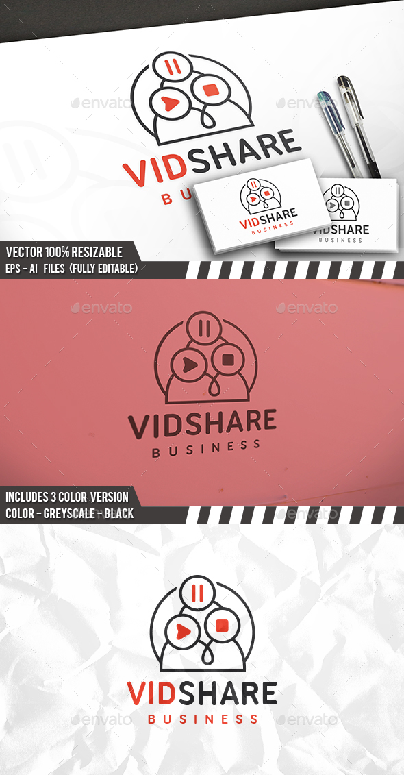 Video Share Logo - Humans Logo Templates