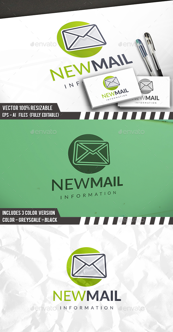 New Mail Logo - Symbols Logo Templates