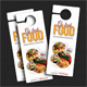 Go Fresh Restaurant Door Hanger - GraphicRiver Item for Sale
