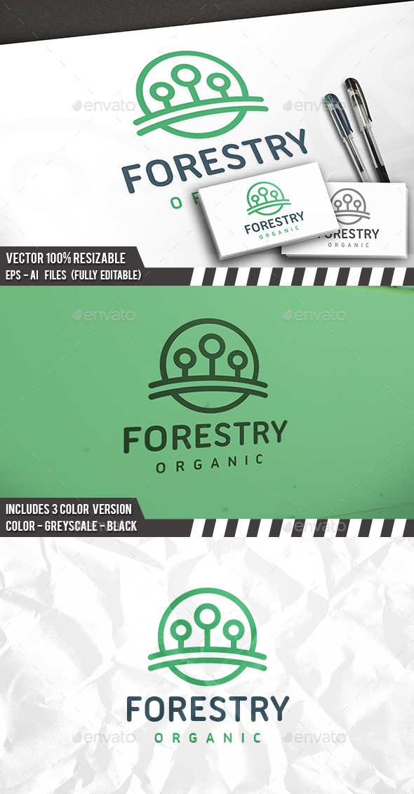 Forest Circle Logo - Nature Logo Templates
