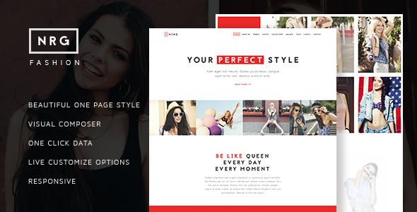 NRG Fashion – Model Agency One Page Beauty Theme