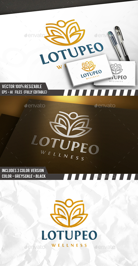 Lotus People Logo - Humans Logo Templates