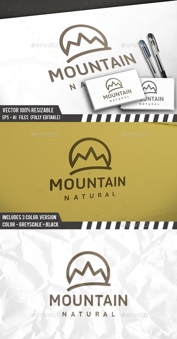 Mountain Simple Logo - Nature Logo Templates