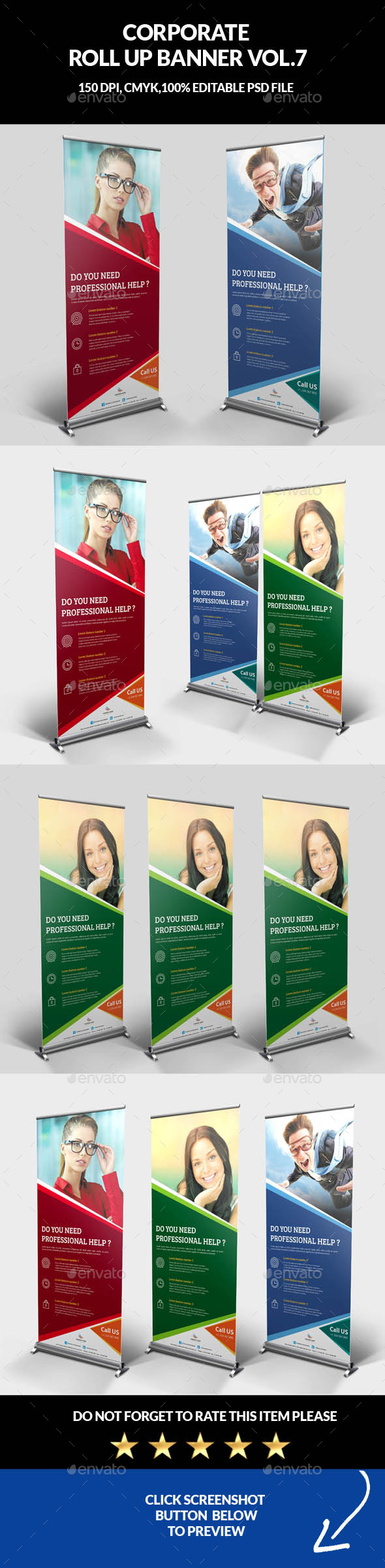 Corporate Business Roll Up Banner Vol.7 - Signage Print Templates