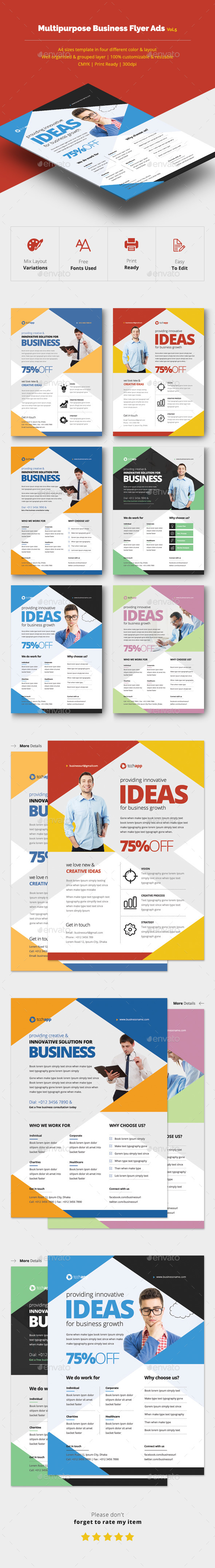 Multipurpose Business Flyer Vol.5 - Corporate Flyers