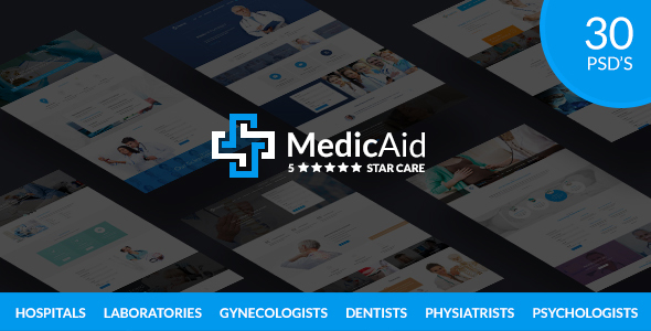 MedicAid - Medical PSD Template - Business Corporate