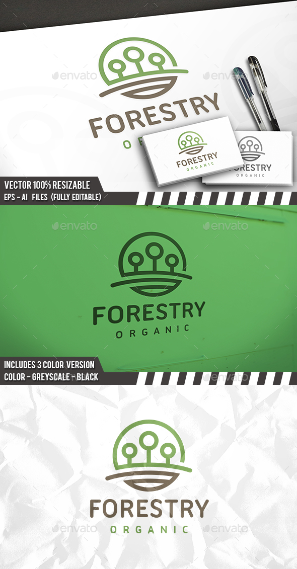 Trees Logo - Nature Logo Templates