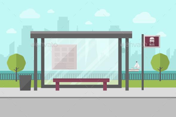Bus Stop - Travel Conceptual