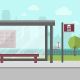 Bus Stop - GraphicRiver Item for Sale
