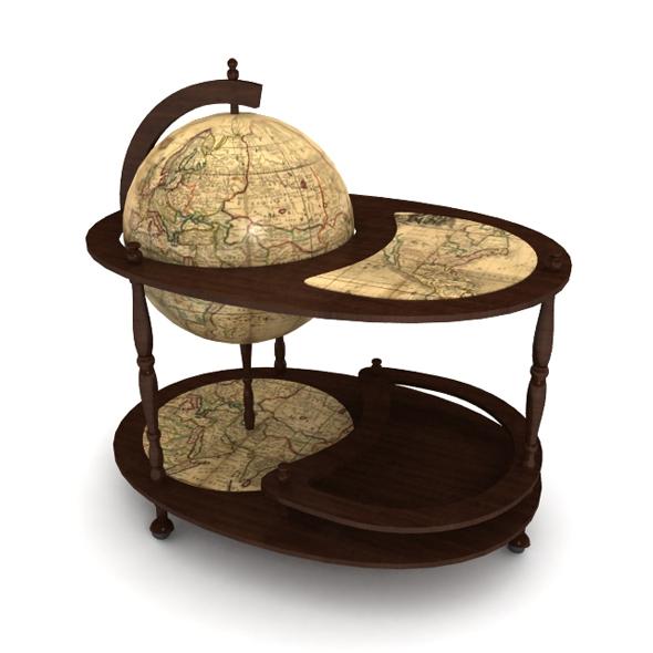 "Minibar ""Globe"" - 3DOcean Item for Sale"