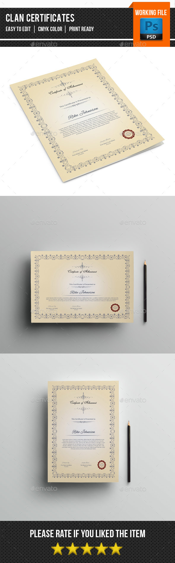 Multipurpose Certificate Template-V02 - Certificates Stationery