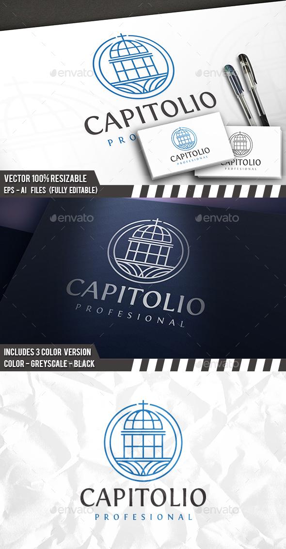 Capitol Logo - Buildings Logo Templates