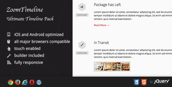 ZoomTimeline - Ultimate Timeline Pack - CodeCanyon Item for Sale